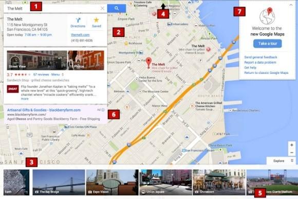 google maps interface google maps
