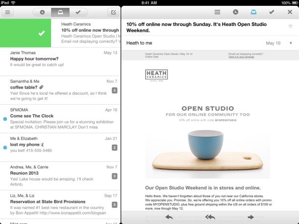 mailbox ipad app