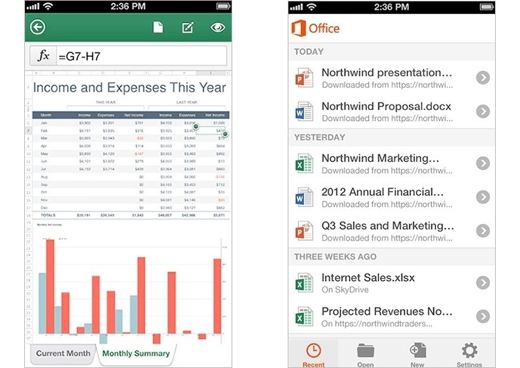 microsoft office mobile ios