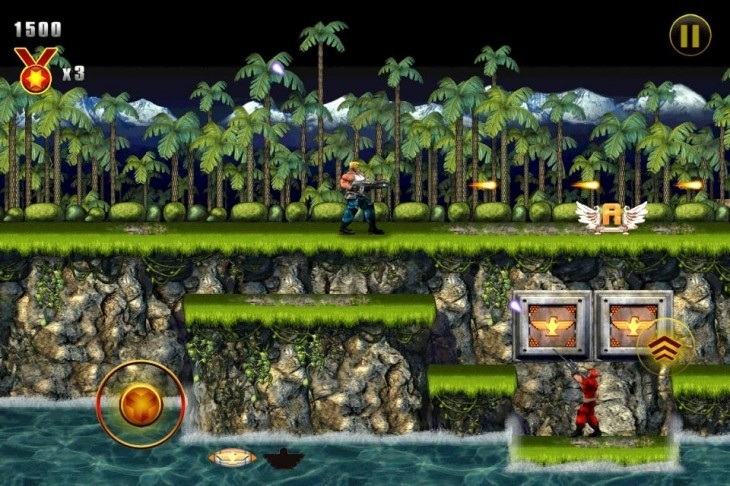 contra evolution ios konami nes