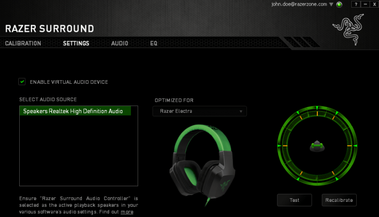 razer surround sound audio sofware stereo headphones etymotic
