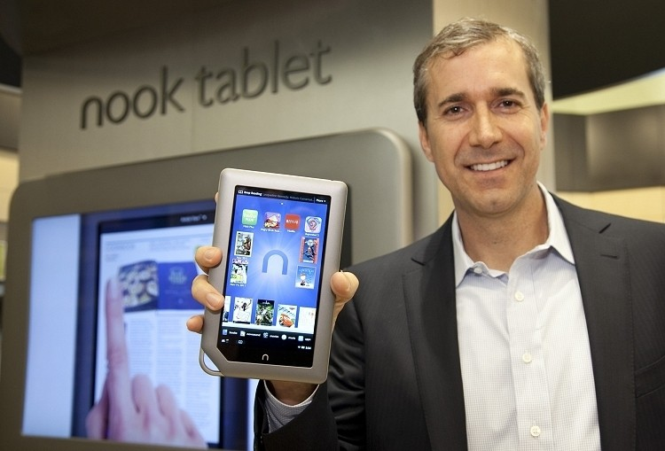 ceo, nook tablet, barnes and noble