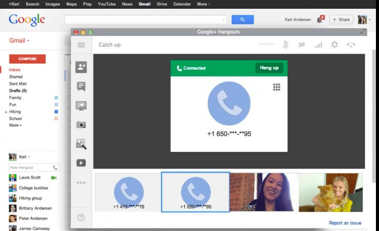 google gmail skype hangouts chrome extension