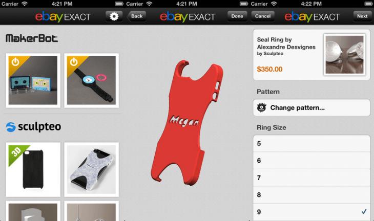 ebay exact ios 3d-printed exact ios app 3d printed ebay store