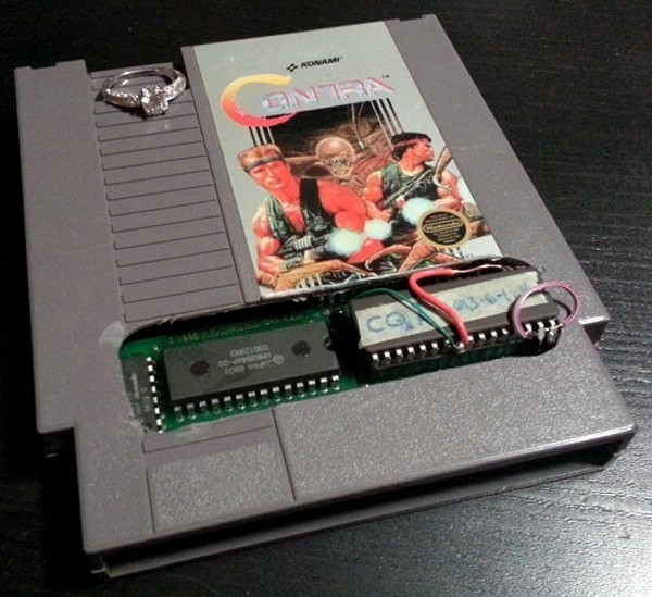 man gaming nes contra