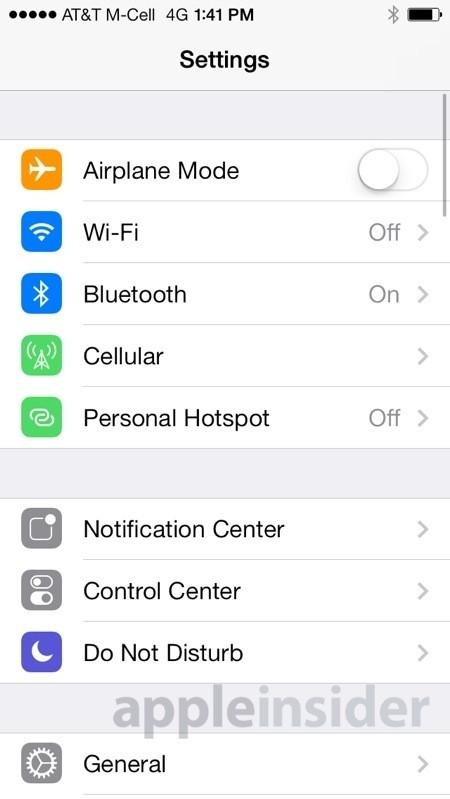 apple ios control center beta ios 7