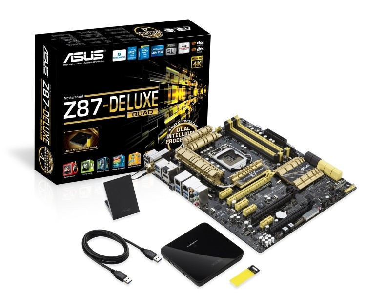 asus z87-deluxe quad thunderbolt intel motherboard usb 3.0 haswell z87