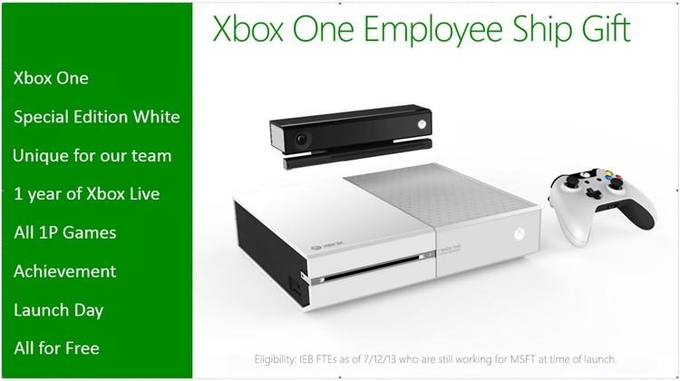 xbox microsoft xbox one white xbox one employee incentive