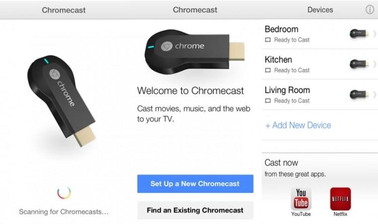 google chromecast iphone ipad local content