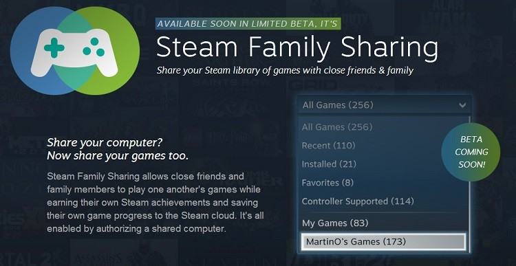 valve, steam, pc gaming, games, digital downloads, family sharing, steam family sharing