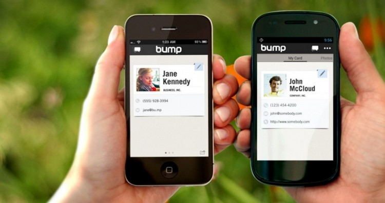bump mobile contact sharing app acquired google stay alive bump