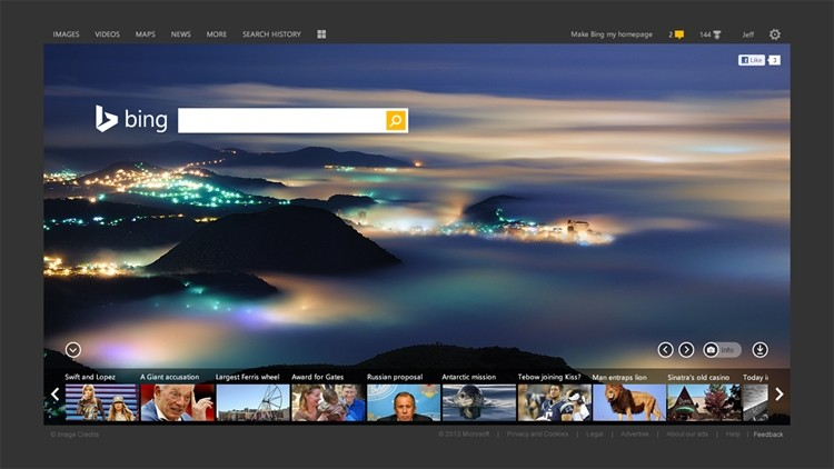 microsoft bing search makeover