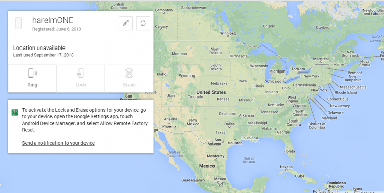 google android device manager
