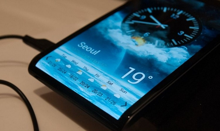 samsung, smartphone, flexible display, flexible oled, curved glass