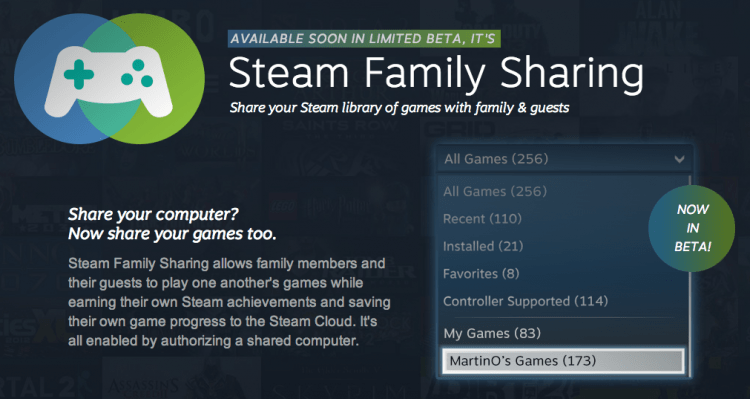 steam, beta, steam family sharing, steamos, steam machines