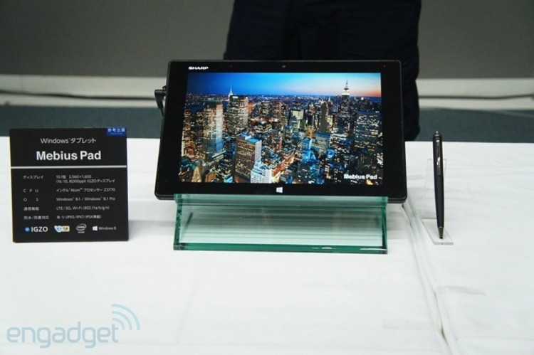 windows, tablet, sharp, slate, ceatec, windows 8, igzo