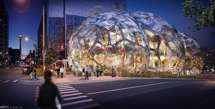 amazon, architecture, seattle