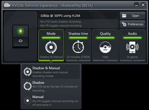 shadowplay geforce experience nvidia