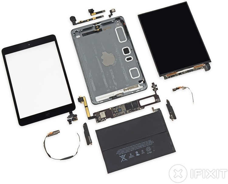 retina ipad iphone-class a7 retina display ipad mini teardown ifixit iphone 5s a7