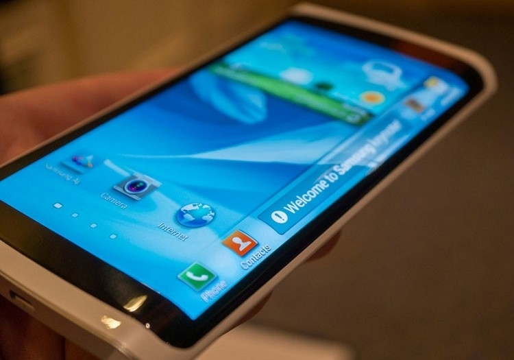 samsung, ces, curved display, galaxy round