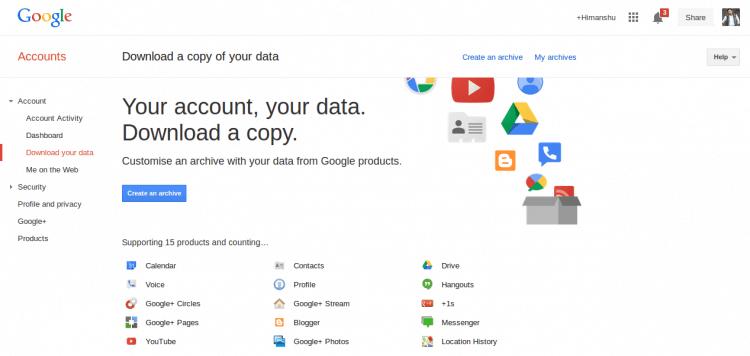 google takeout gmail google calendar