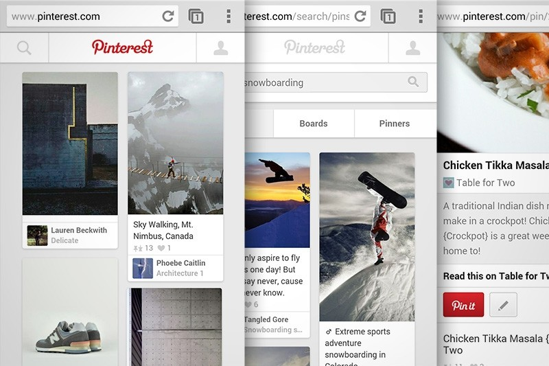 mobile, redesign, pinterest