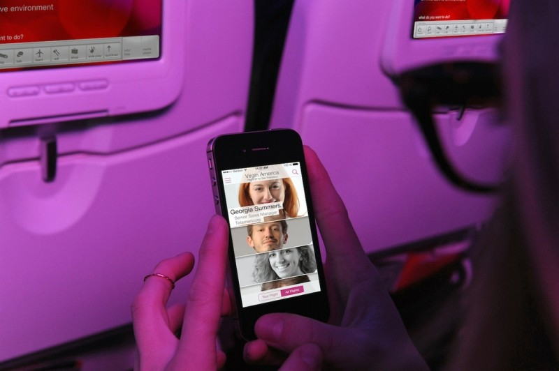 virgin america, social network, gogo