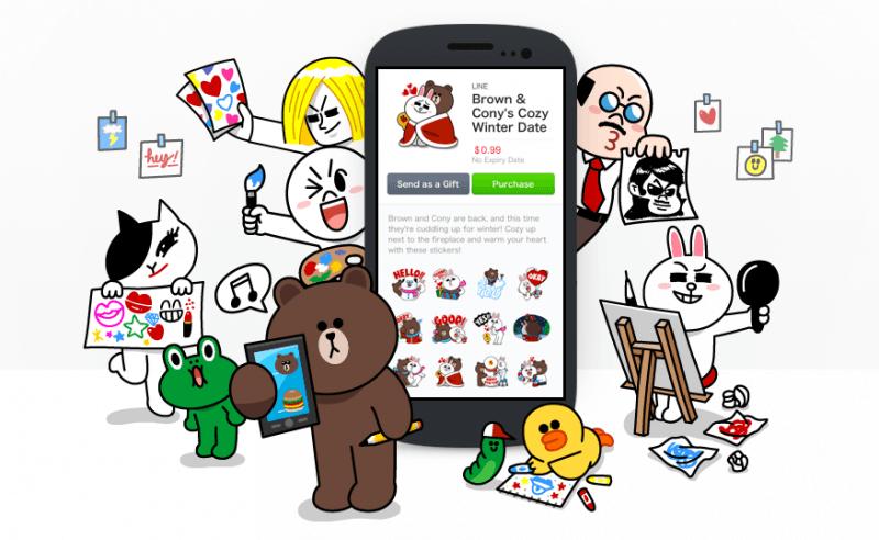 skype, messaging, line