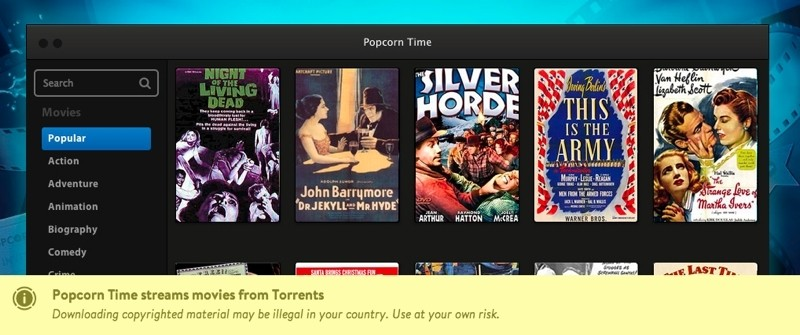 torrent, streaming, bittorent, popcorn time