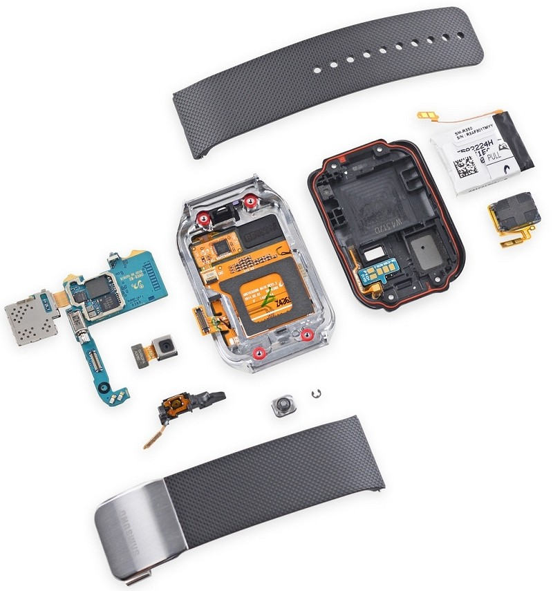 samsung gear teardown surprisingly repairable smartwatch samsung repairability gear 2