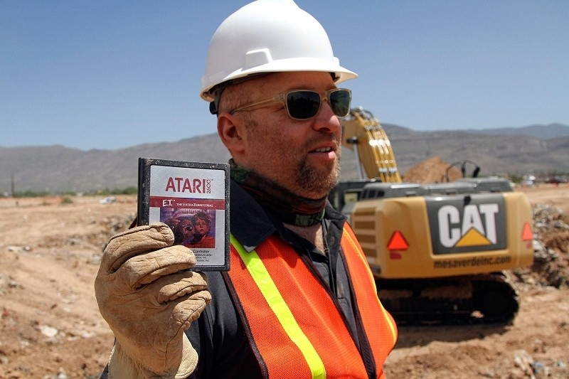 atari, landfill, et, excavation