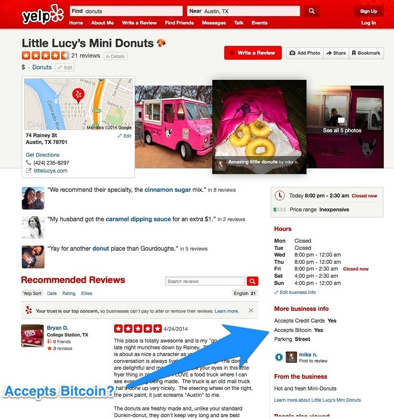 yelp businesses accept bitcoin bitcoin