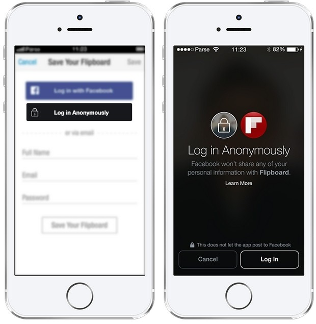 facebook mark zuckerberg f8 conference social network anonymous login third-party apps