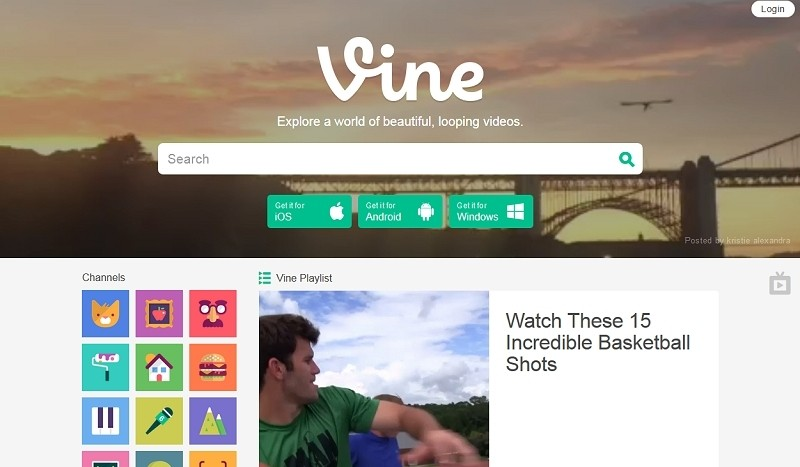 youtube, twitter, redesign, vine, video clips