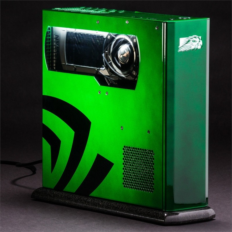 nvidia --a-kind falcon northwest tiki gaming powered geforce gtx titan black gaming pc charity gaming pc falcon northwest auction