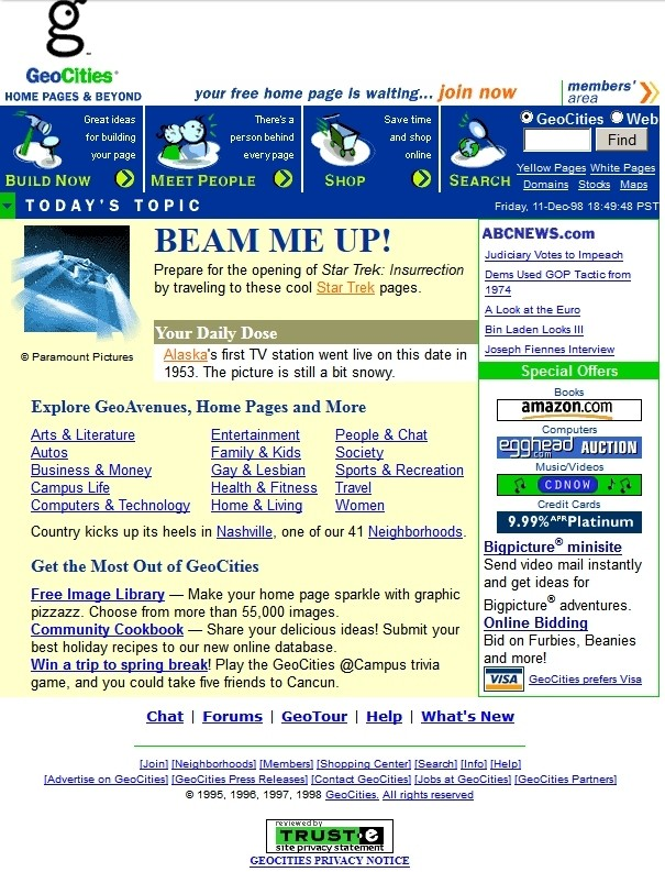 wayback machine web websites internet archive