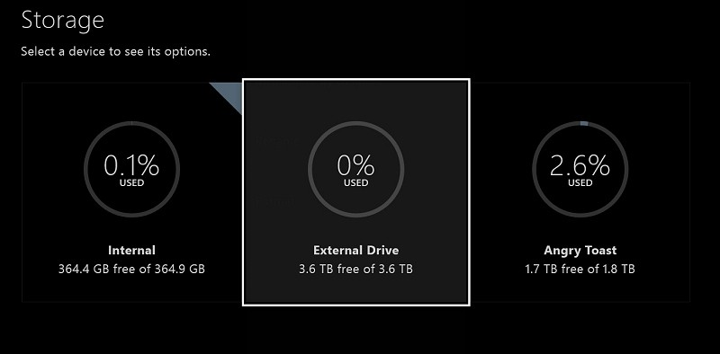 microsoft, update, external storage, xbox one