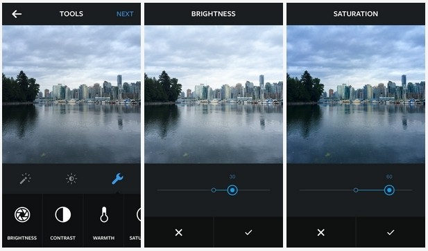 instagram adjustable filters effects