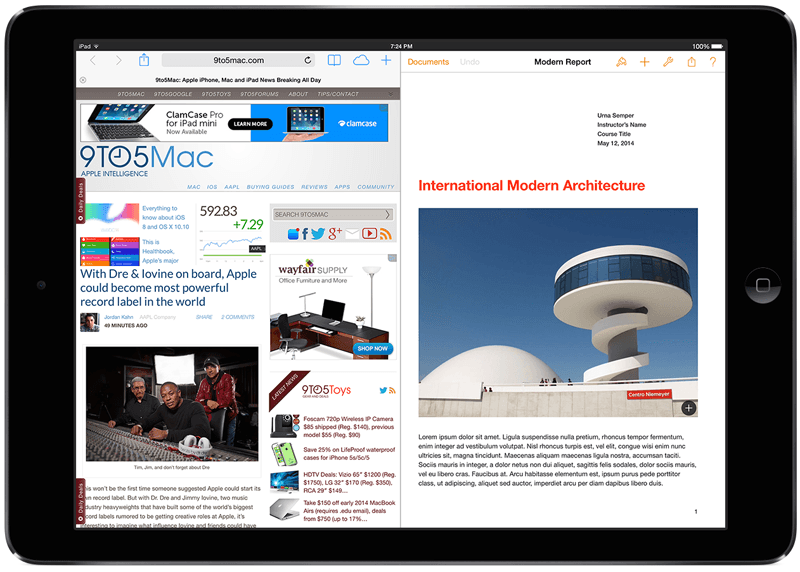 apple, ipad, beta, multitasking, ios 8