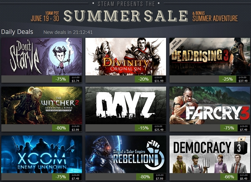 valve, steam, gaming, summer sale, games