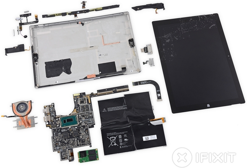 microsoft surface pro teardown microsoft tablet ifixit surface pro 3