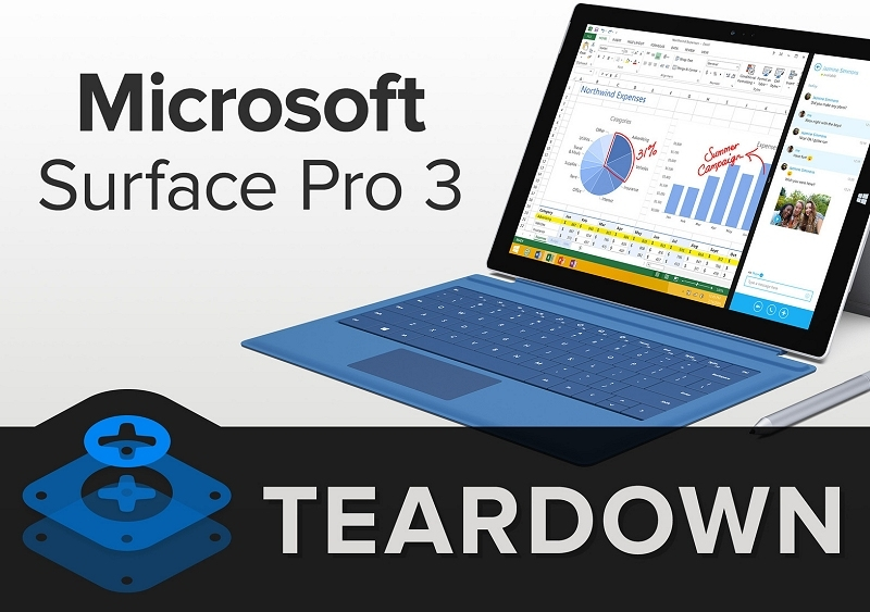 microsoft, tablet, slate, teardown, ifixit, repair, fix, surface pro 3