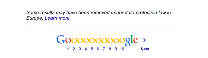 google starts removing search results europe forgotten