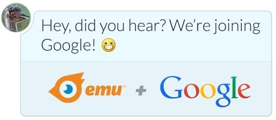 google acquires emu client siri- intelligence google apple messaging imessage hangouts siri google now personal assistant emu