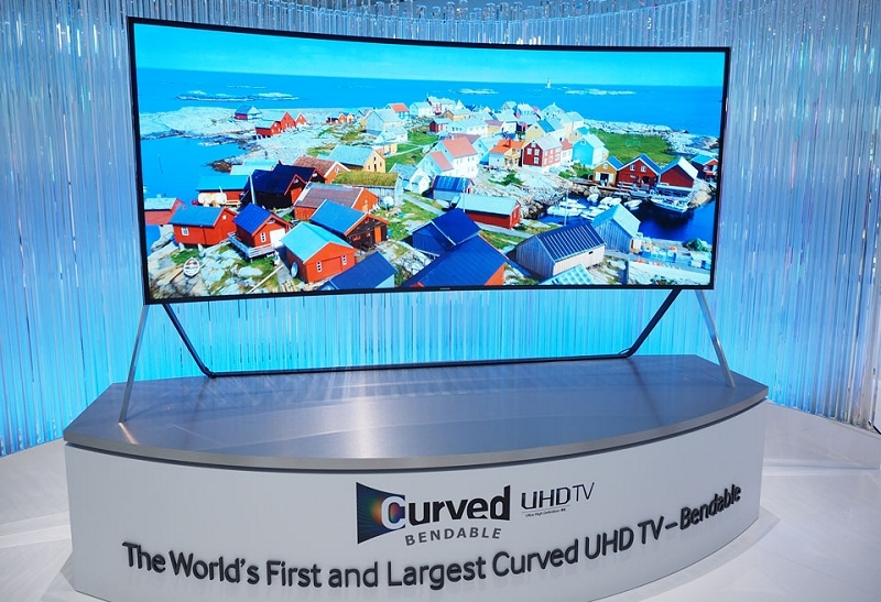 samsung, tv, television, 4k resolution, flexible, bendable, uhd tv, curved, ifa 2014