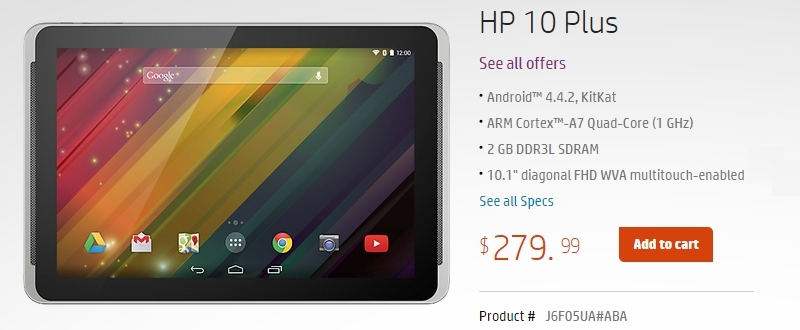 HP quietly launches Android-powered 10 Plus tablet, priced ...