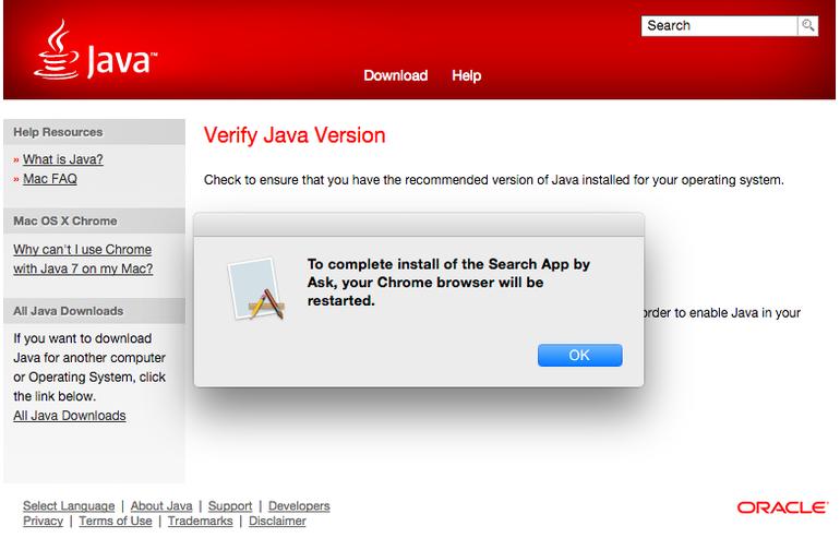 java dumps adware macs software oracle mac adware ask toolbar toolbar