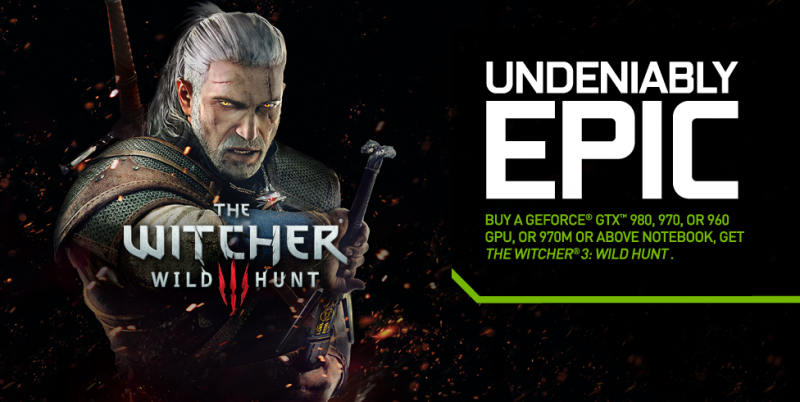 nvidia witcher wild hunt gpu graphics card pc gaming game bundle the witcher 3