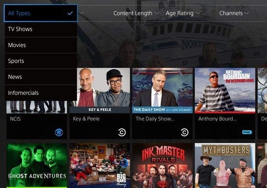 sony playstation vue dish espn dvr internet tv streaming video sling tv over-the-top tv internet andrew house sony computer entertainment