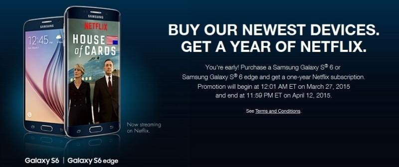 t-mobile netflix galaxy s6 samsung smartphone streaming video galaxy s6 edge